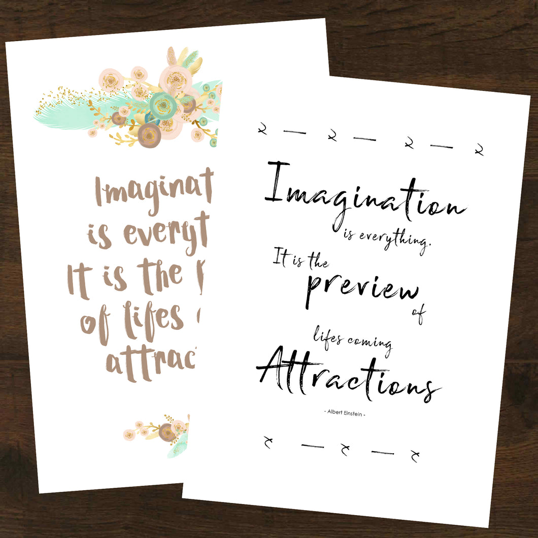 Imagination Is Everything Inspirational Printable 2pk