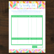 6pk Chores & Responsibilities By Age Group Pocket Money Printable - INSTANT DOWNLOAD