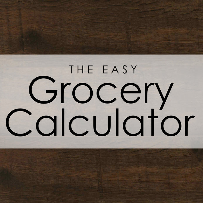 A Easy Grocery Calculator ---- INSTANT DOWNLOAD ----
