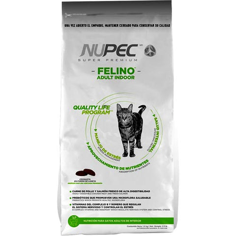 Nupec Felino Adulto Indoor. 3kg.
