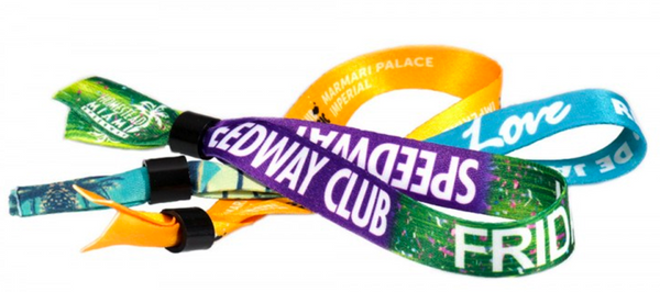 Printed cloth wristbands