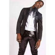 BLACK SEQUIN PARTY PANTS