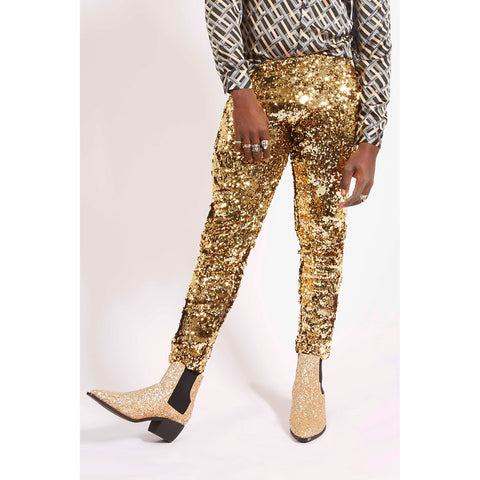 GOLD SEQUIN PARTY PANTS