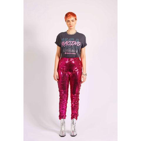 PINK SEQUIN LEGGINGS