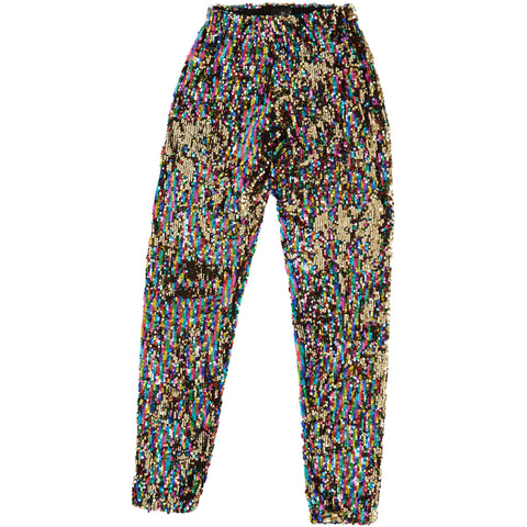 RAINBOW GOLD SEQUIN LEGGINGS Mens Leggings Sparklebutt