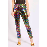 RAINBOW GOLD SEQUIN LEGGINGS
