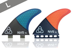 NVS GL Carbon Fiber Thruster Surfboard Fins, FCS and Futures Compatible