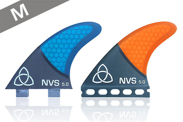 NV-5.0 Thrusters (M) - Carbon Fiber-Naked Viking Surf