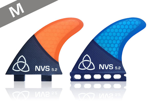 NV-5.2 Thrusters (M) - Carbon Fiber-Naked Viking Surf