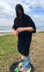 Hooded Poncho-Naked Viking Surf