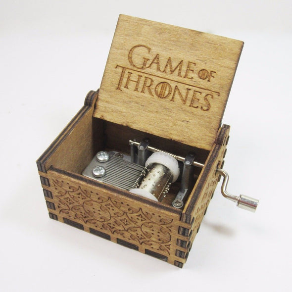 *LIMITED EDITION* ANTIQUE CARVED GAME OF THRONES MUSIC BOX