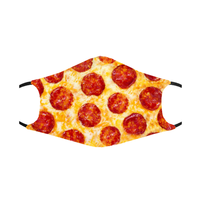 Pizza Mask- Double Layer Washable Mask w/ PM2.5 Filter