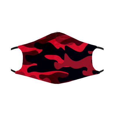Red Camo Mask- Double Layer Washable Mask w/ PM2.5 Filter