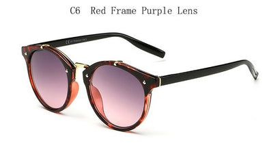 Vintage Round Rivet Sunglasses