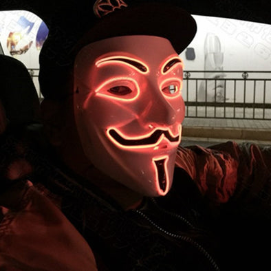 Fashion LED Halloween V for Vendetta Mask