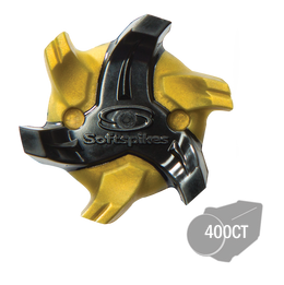 Softspikes® Cyclone Bulk Golf Cleats (Fast Twist) Gold/Black