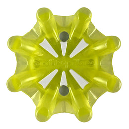 Softspikes® Pulsar Golf Cleats (Fast Twist® 3.0) | Translucent Neon Yellow/White