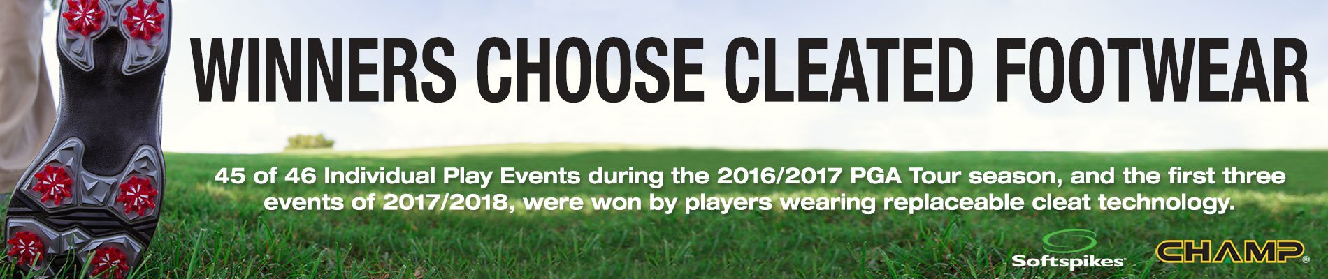 Winners Choose Cleated Footwear