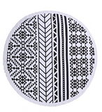 Tribal Print Fringe Beach Blanket