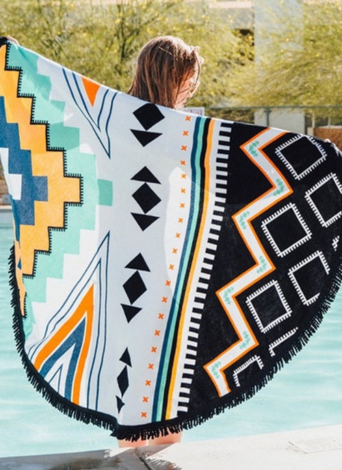 Palm Desert Fringe Beach Throw