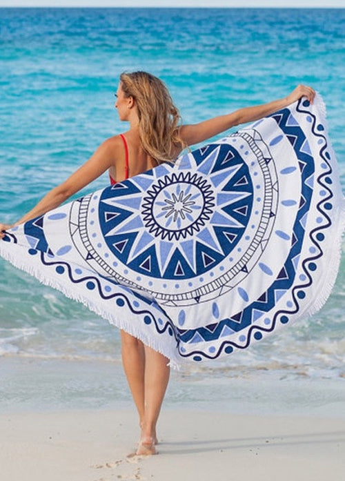 Wish You Were Here Fringe Beach Throw