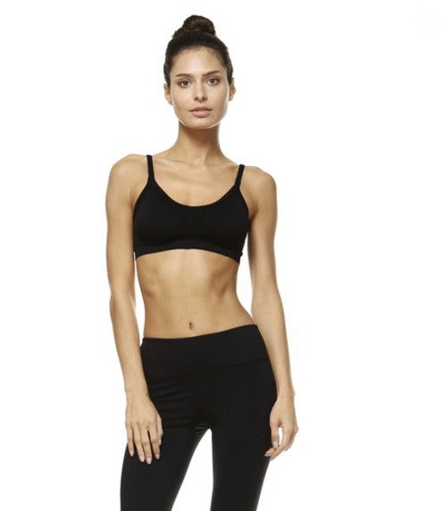 Criss Cross Sports Bra- Black