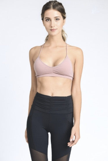 Pyramid Sports Bra- Dusty Rose