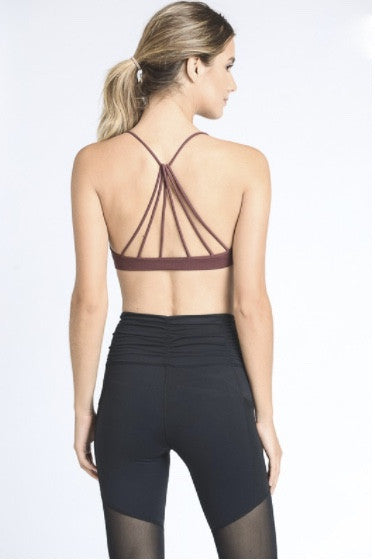 Pyramid Sports Bra- Marsala