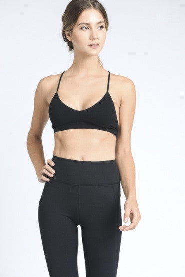 Pyramid Sports Bra- Black