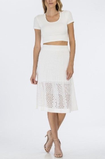 Mid Summer Night Skirt- White