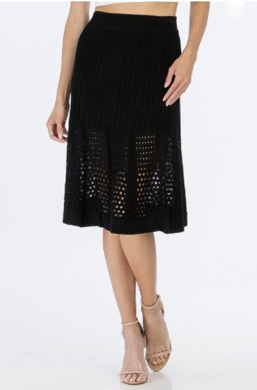 Mid Summer Night Skirt- Black