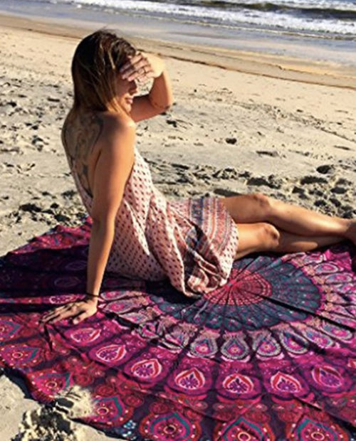 Peacock Beach Throw- Pink