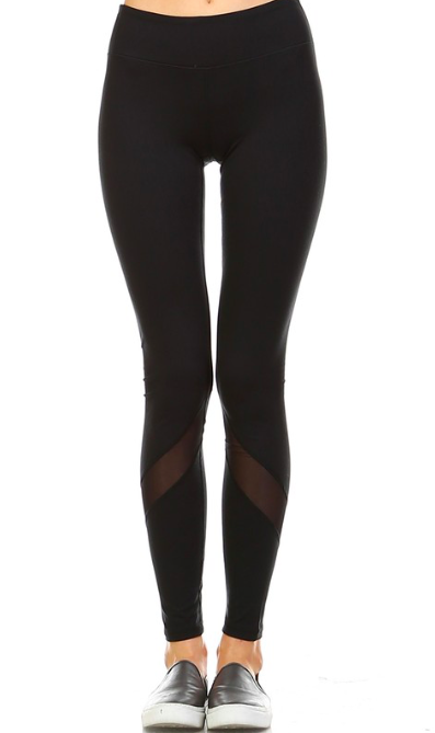 Mesh Stripe Yoga Legging