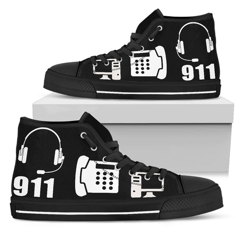 Image of 911 Dispatch - Women's High Top Canvas Shoe