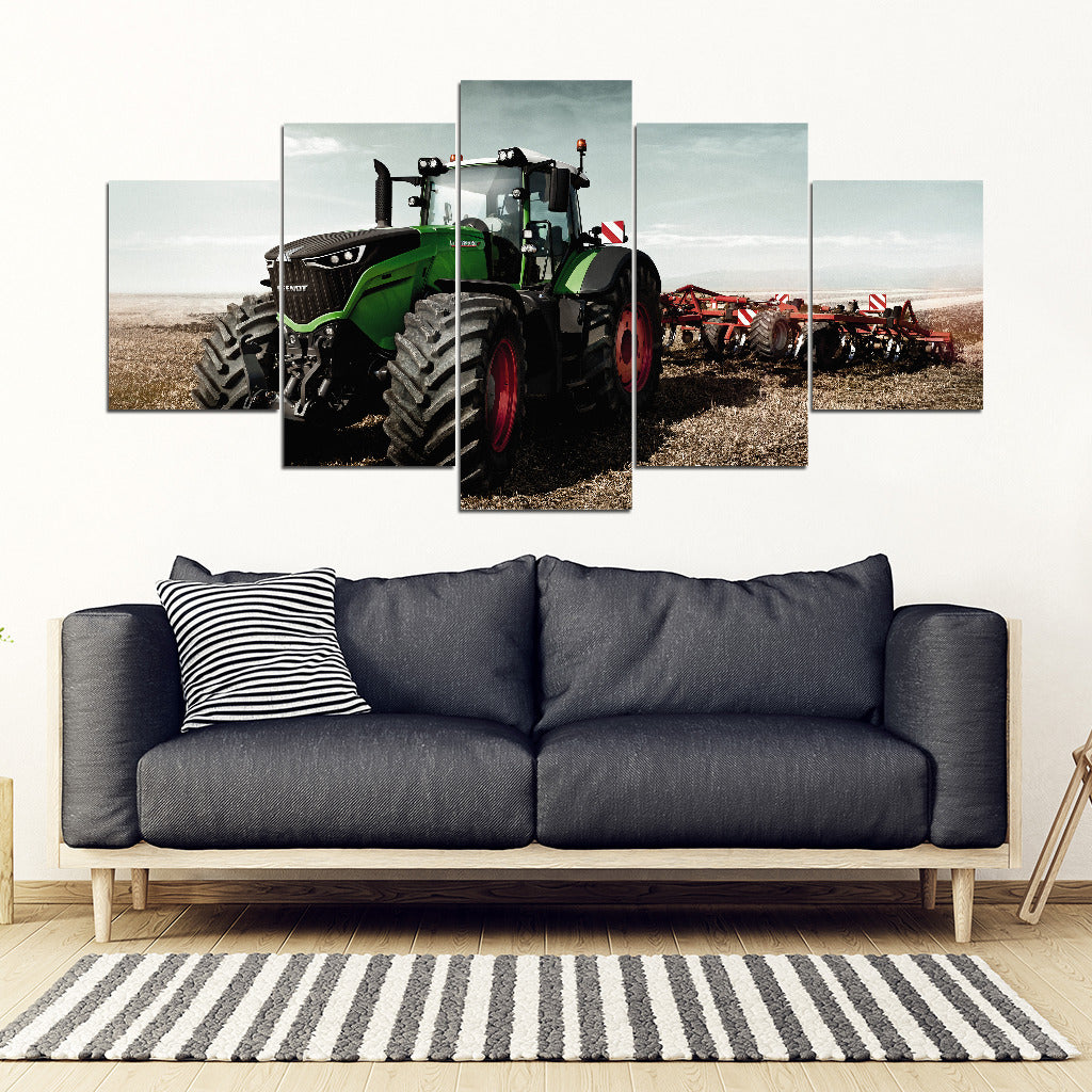 [Ship To USA Only] Farmer Tractor John Deere Framed Canvas