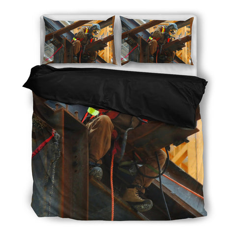 Image of Welder Working - Bedding Set