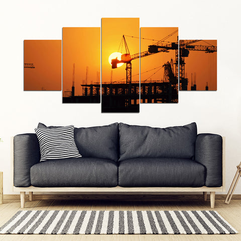 Sunshine On The Ironworker Framed Canvas