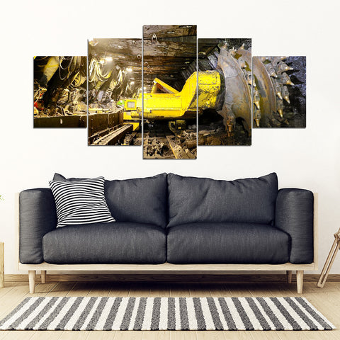 Cool Machines Of Coal Miner Framed Canvas