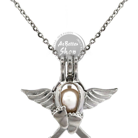 Angel Wings Infant Loss Necklace - Jewelr