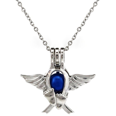 Angel Wings Infant Loss Necklace - Jewelry - Infant Loss Awareness - Gifts For Mom