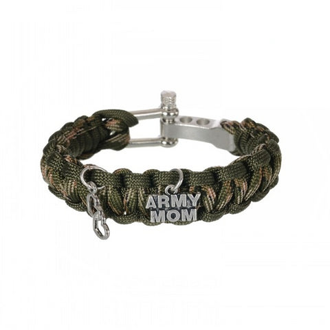 Image of Camo Paracord for Army Mom - Accessories - Army Mom Bracelet - Paracord Survival Bracelet