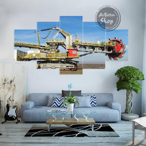 Giant Heavy Equipment 5 Piece Canvas