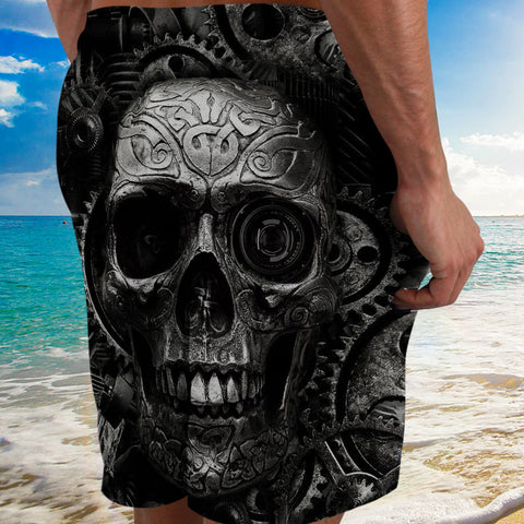 Black Skull Mechanic Man 3d Short