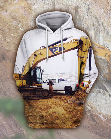 Image of Good Heavy Equipment Operator Excavator Working Hoodie