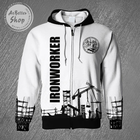 Ironworker Some People Call Me Zipper 3D Hoodie