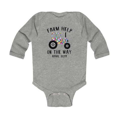 Farm Help On The Way Easter Day 2019 - Long Sleeve Bodysuit