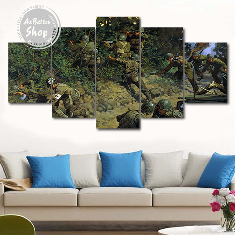 Infantry Soldier 5 Piece Canvas