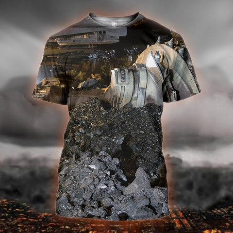 Image of Coal Black Miner 3d T-Shirt