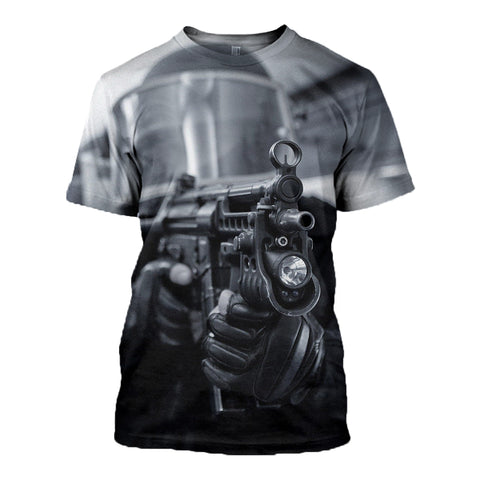 Black Man Military Police 3D Shirts