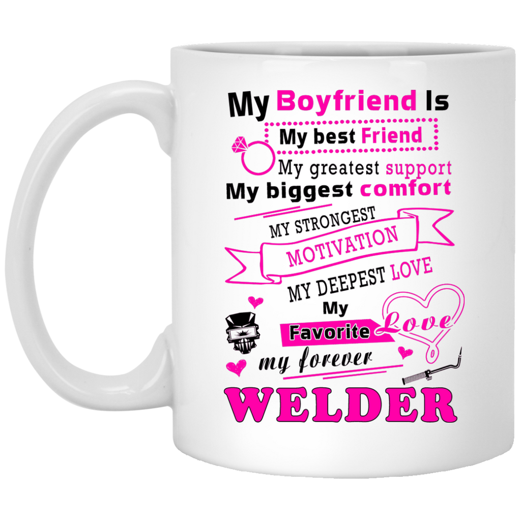 My best friend Welder mug